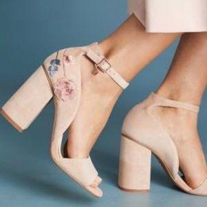 Anthro — Nanette Lapore Martina embroidered heels